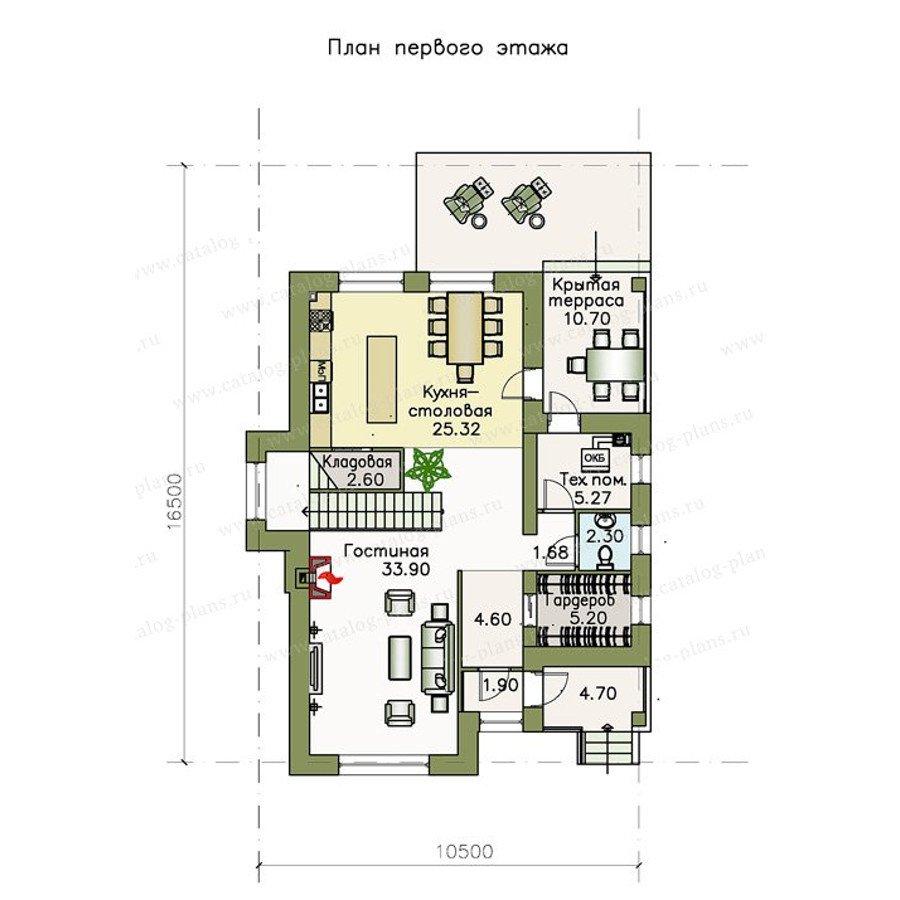 План 1-этажа проекта 47-04