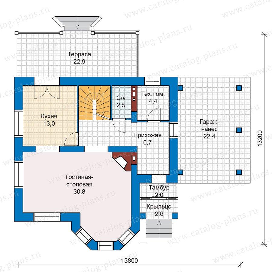 План 1-этажа проекта 47-20