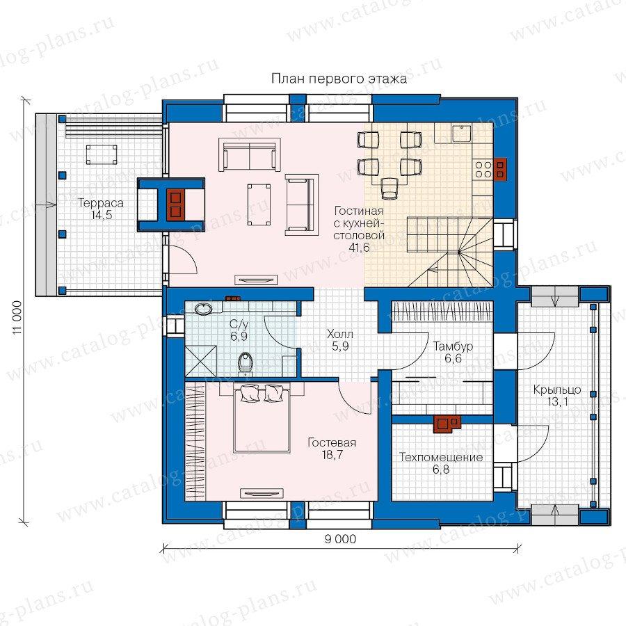 План 1-этажа проекта 47-33