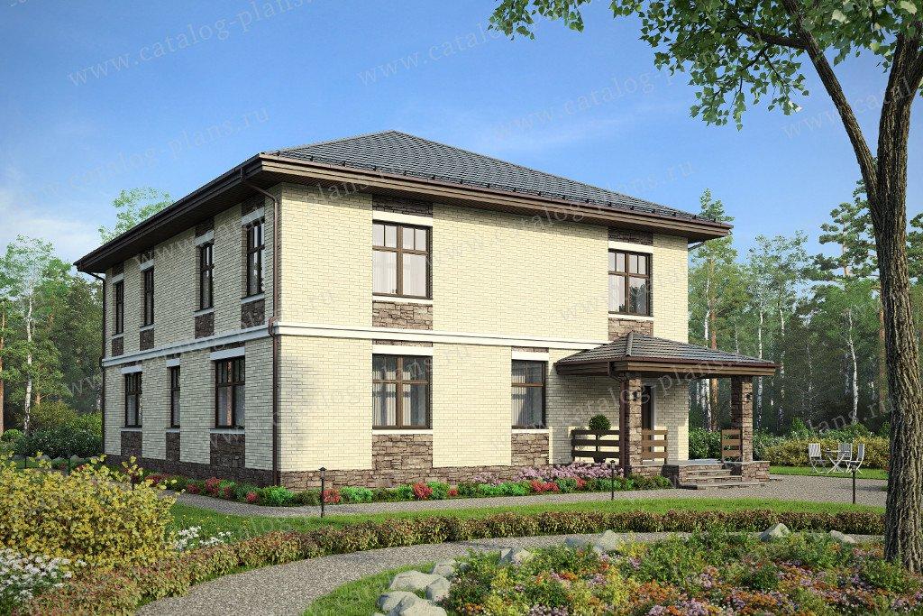 Проект жилой дом #47-27 материал - кирпич, стиль европейский