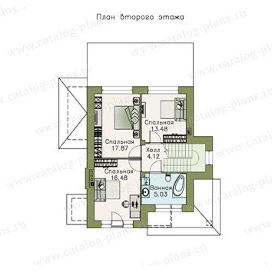 План 2-этажа проекта 47-07