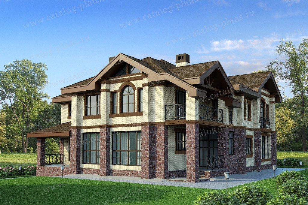 Проект жилой дом #47-35 материал - кирпич, стиль европейский