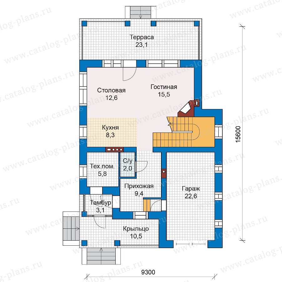 План 1-этажа проекта 47-03