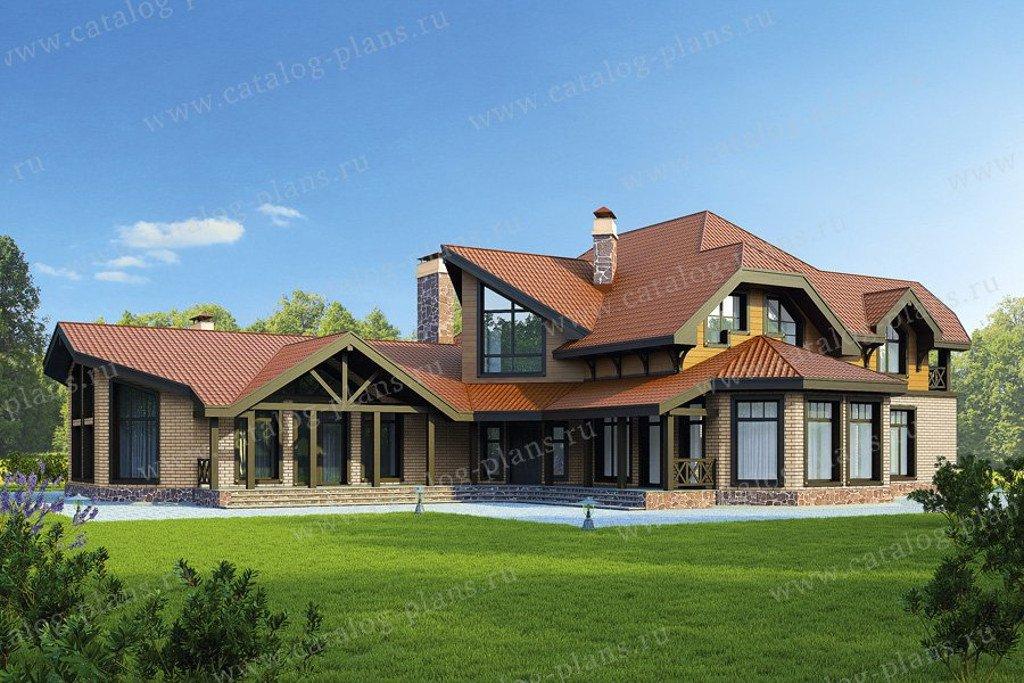 Проект жилой дом #47-34 материал - кирпич, стиль немецкий