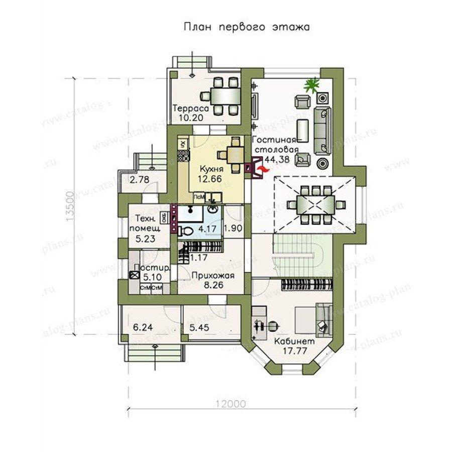 План 1-этажа проекта 47-23