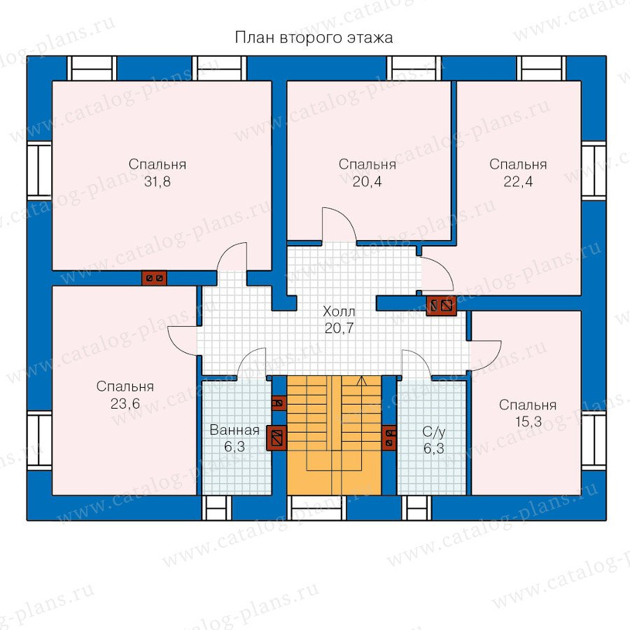 План 2-этажа проекта 47-27