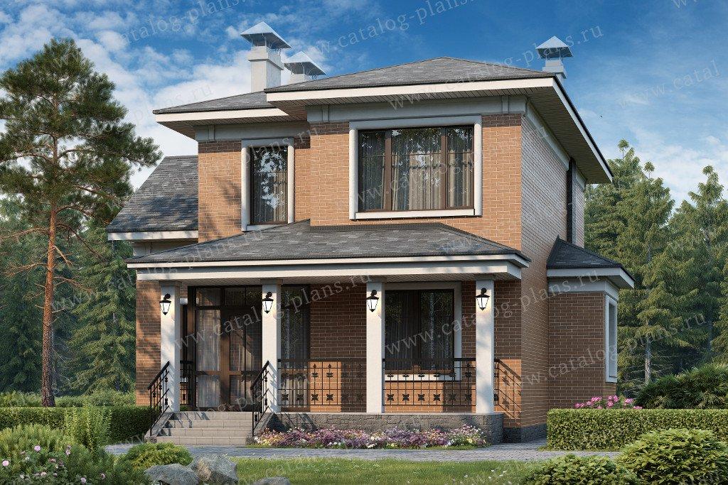 Проект жилой дом #47-25 материал - кирпич, стиль современный