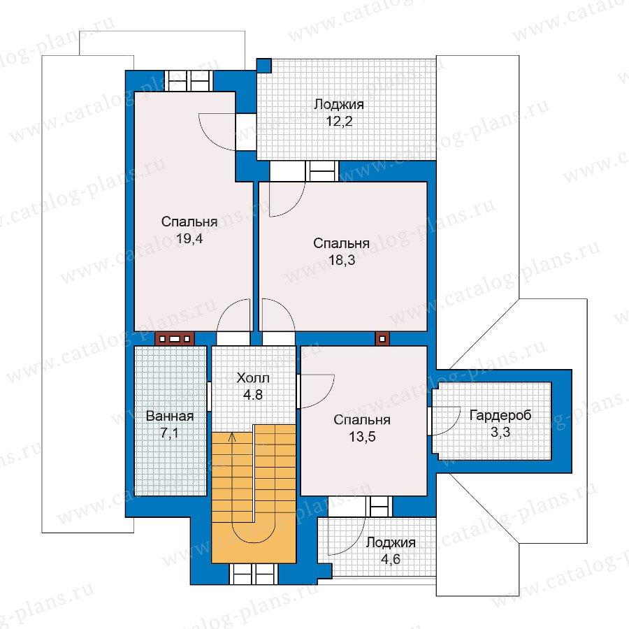 План 2-этажа проекта 47-00