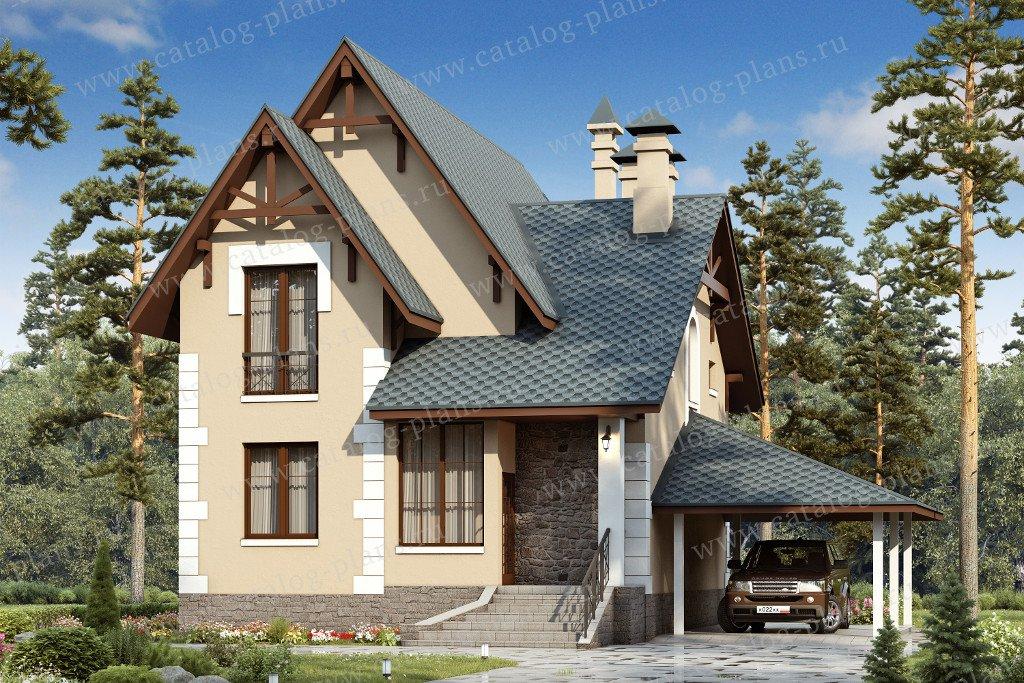 Проект жилой дом #47-10 материал - кирпич, стиль европейский