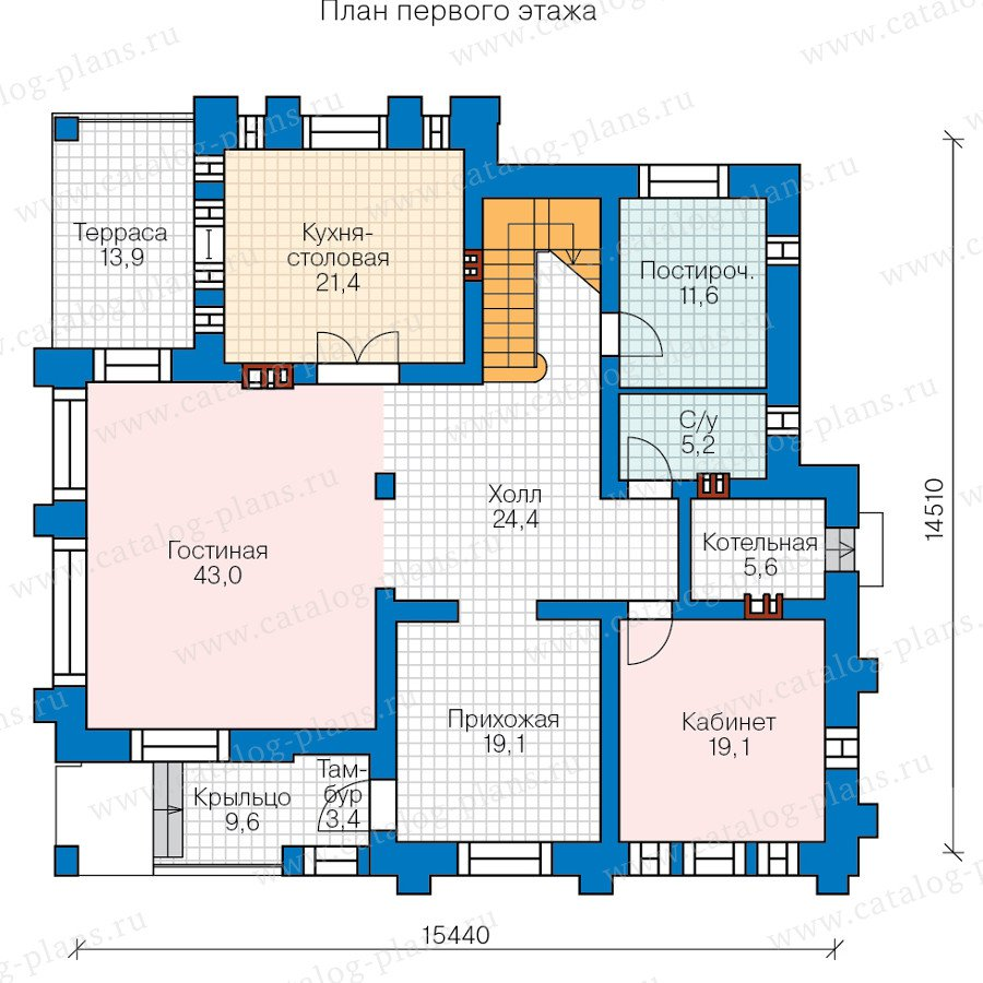 План 1-этажа проекта 47-35
