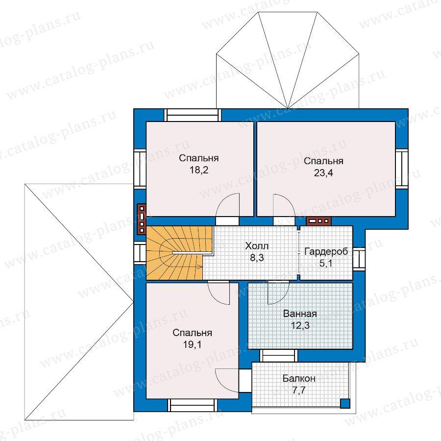 План 2-этажа проекта 47-08