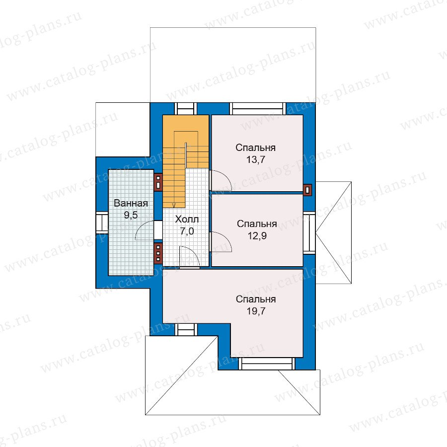 План 2-этажа проекта 47-25