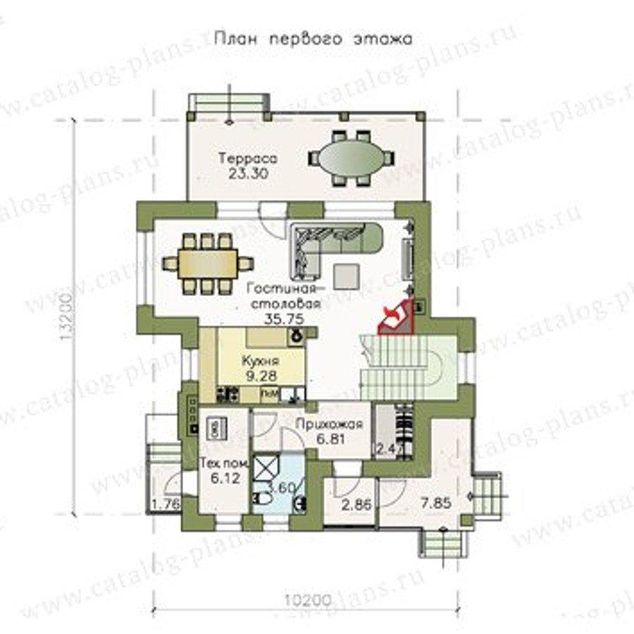 План 1-этажа проекта 47-07