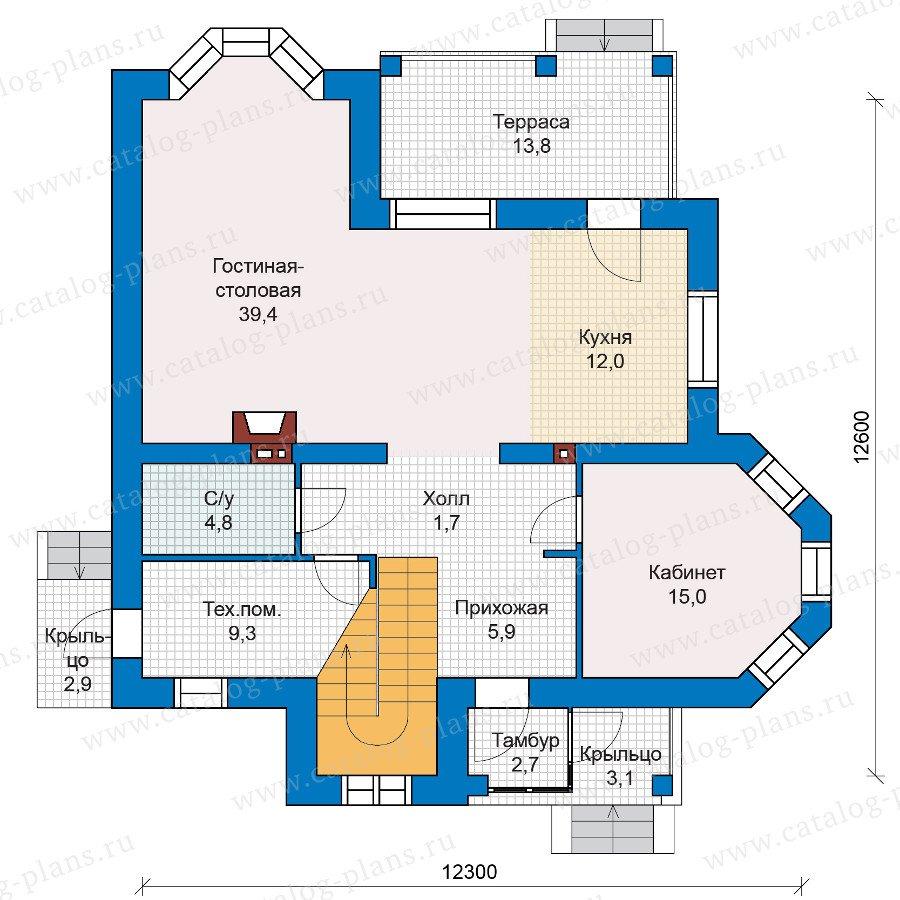 План 1-этажа проекта 47-00