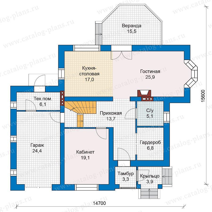 План 1-этажа проекта 47-08
