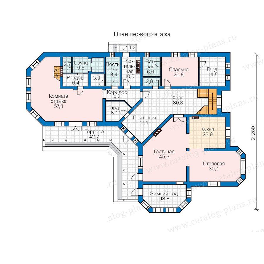 План 1-этажа проекта 47-34