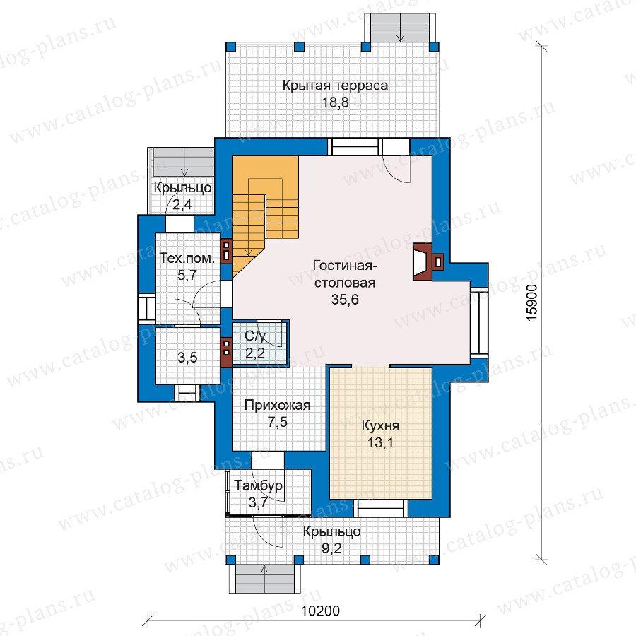 План 1-этажа проекта 47-25