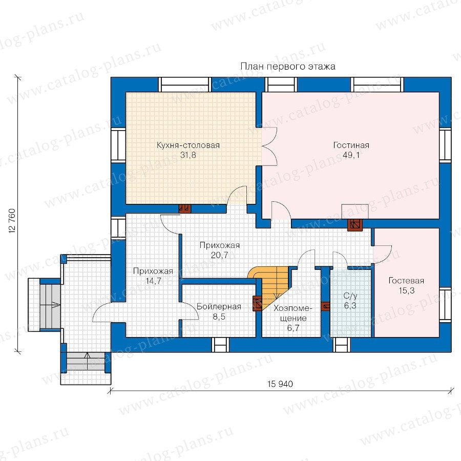 План 1-этажа проекта 47-27