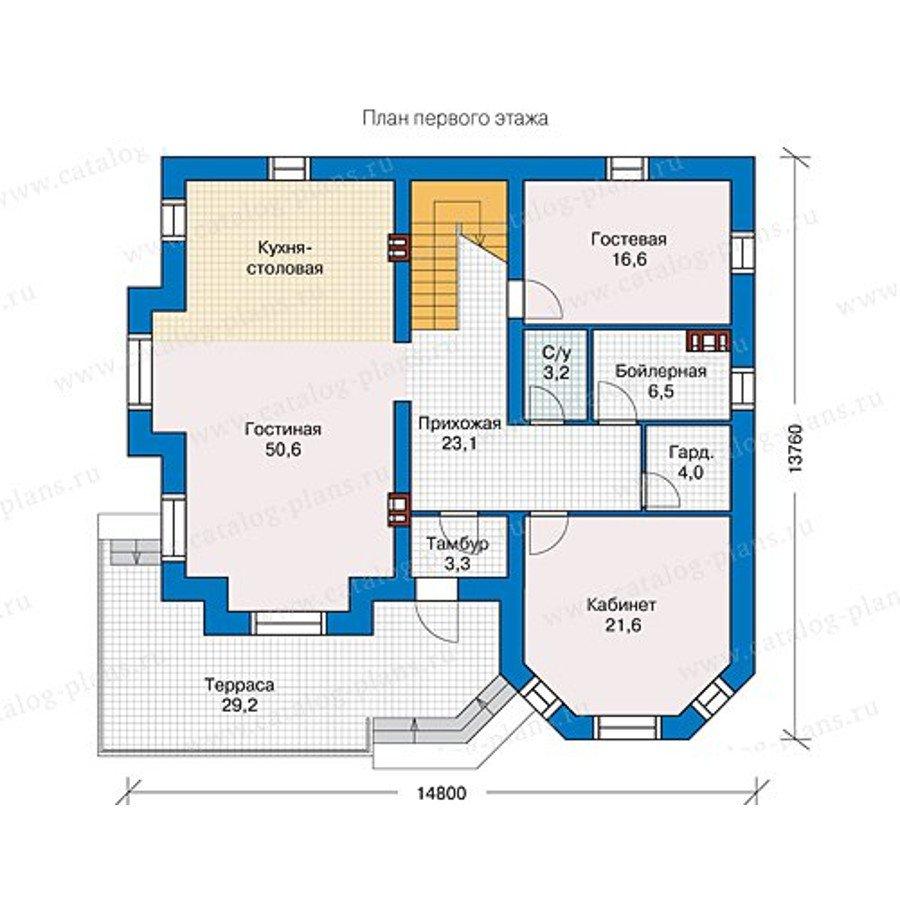 План 1-этажа проекта 40-11L