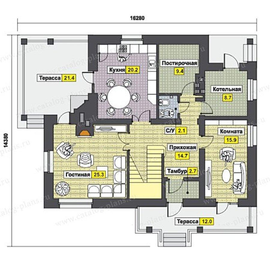 План 1-этажа проекта 47-46G