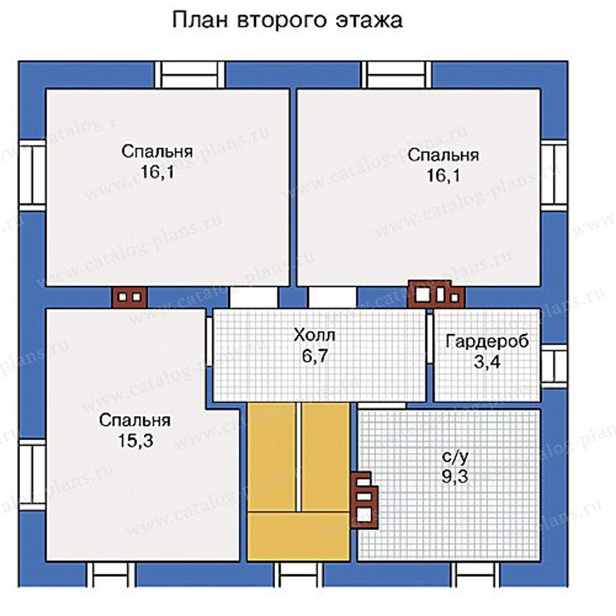 План 2-этажа проекта 40-04L