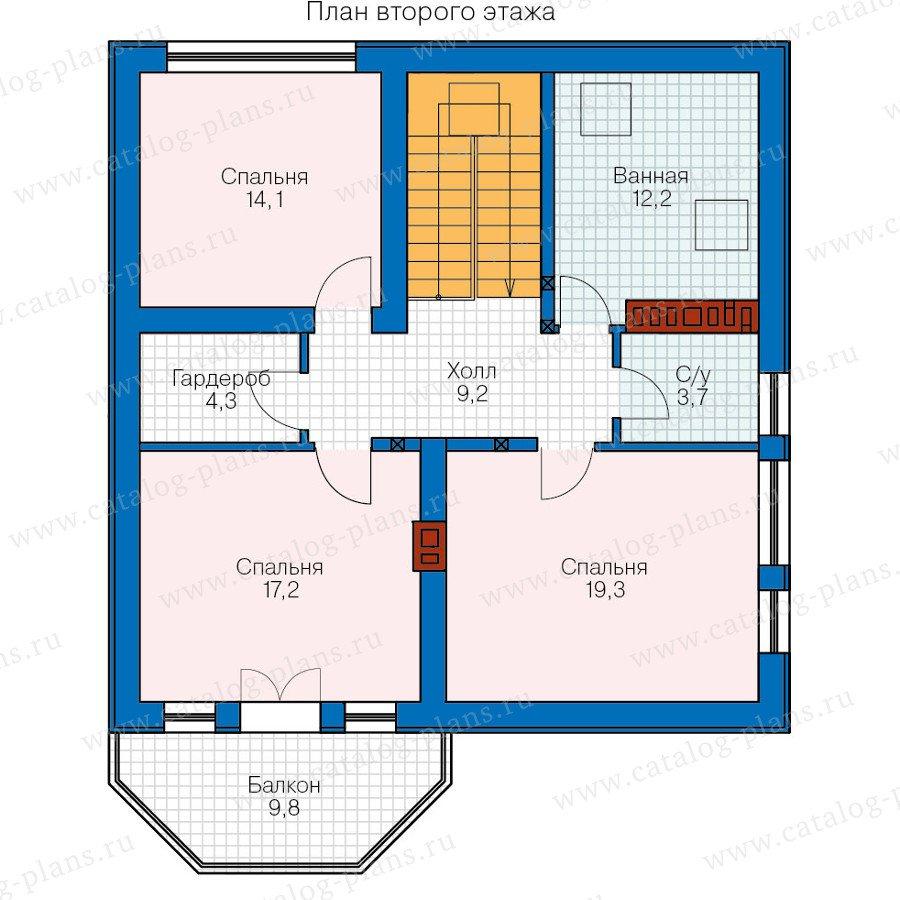 План 2-этажа проекта 40-16G