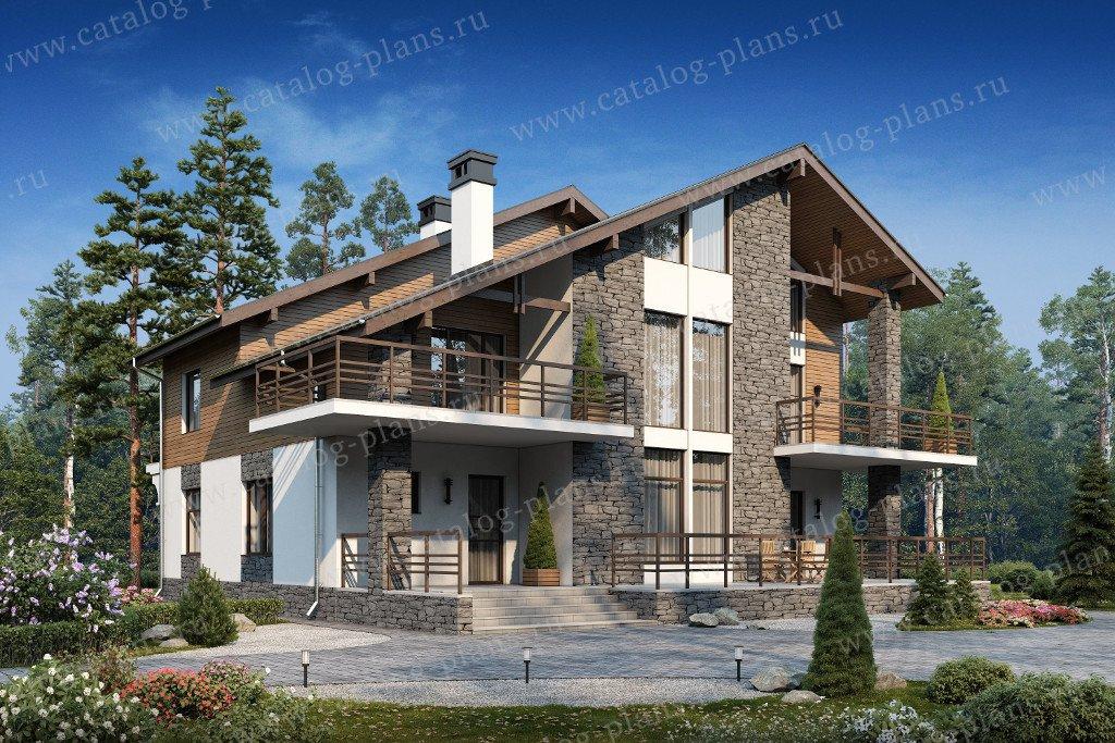 Проект жилой дом #40-09AG материал - газобетон, стиль скандинавский