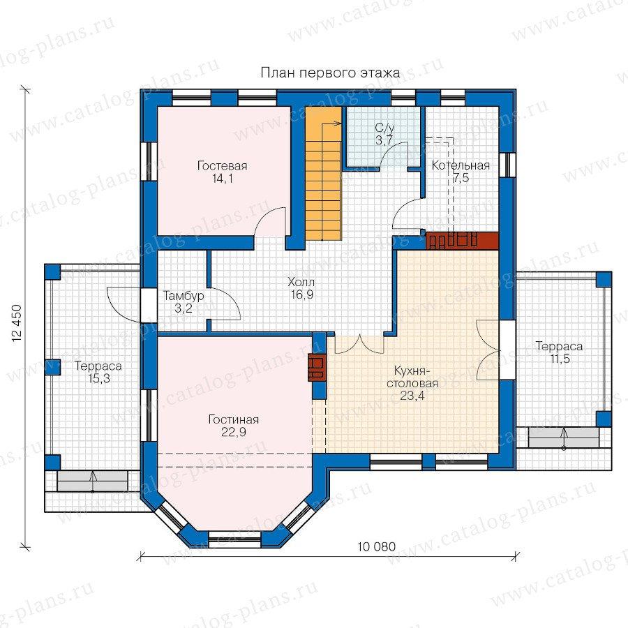 План 1-этажа проекта 40-16G