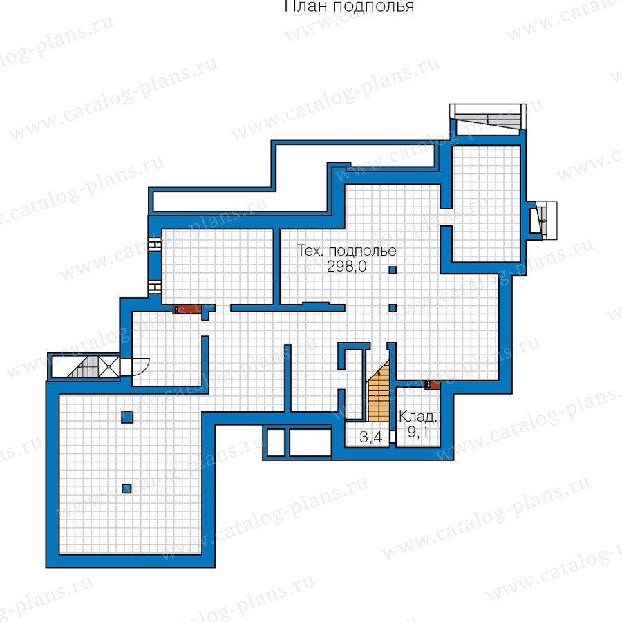 План 1-этажа проекта 47-37