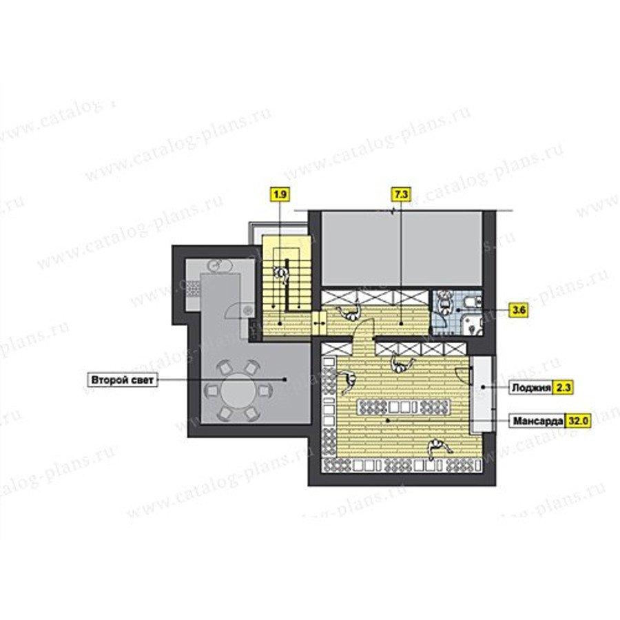 План 3-этажа проекта 47-49