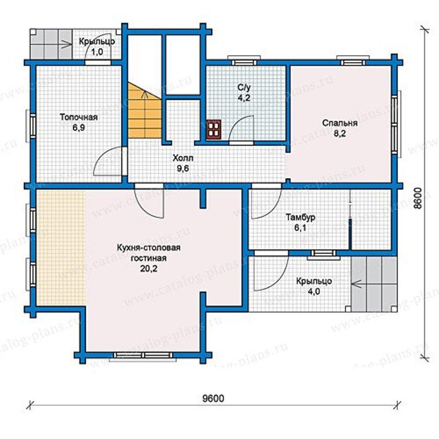План 1-этажа проекта 13-12