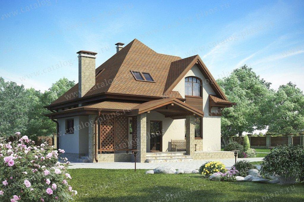 Проект жилой дом #47-52 материал - кирпич, стиль европейский