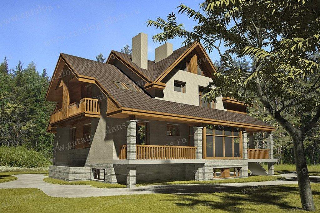 Проект жилой дом #47-46A материал - кирпич, стиль современный
