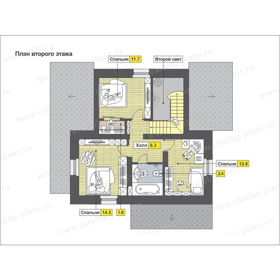 План 2-этажа проекта 47-51G