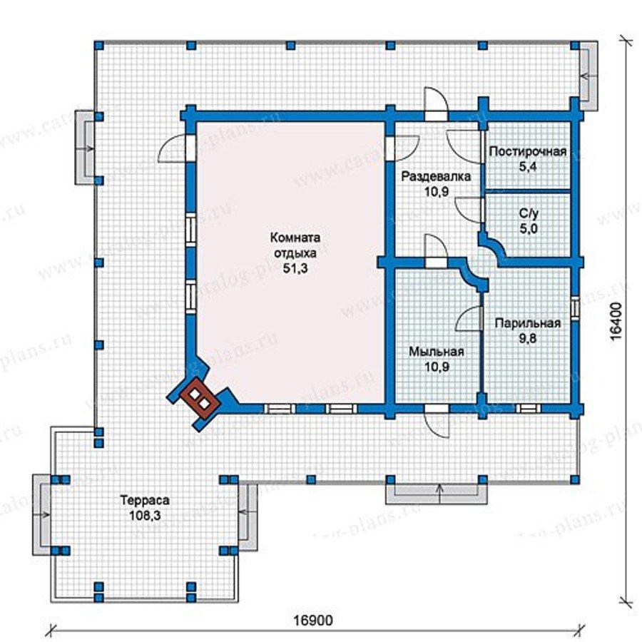 План 1-этажа проекта 13-08