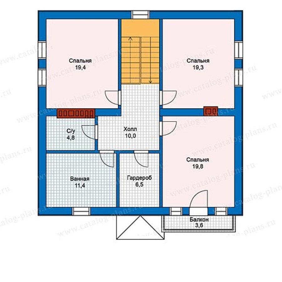 План 2-этажа проекта 40-07G