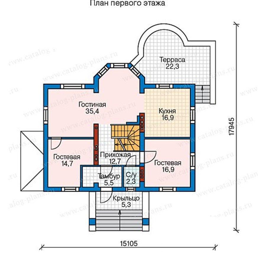 План 2-этажа проекта 60-34
