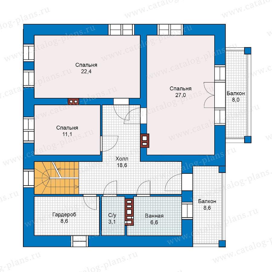 План 2-этажа проекта 40-17G