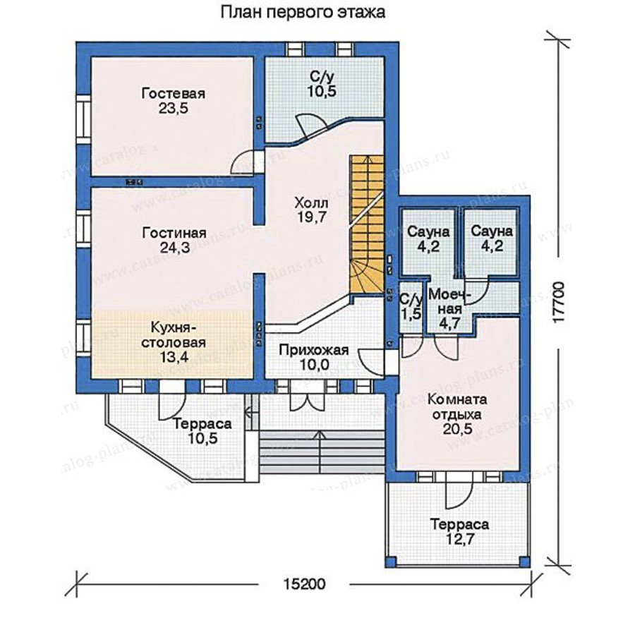 План 2-этажа проекта 35-34