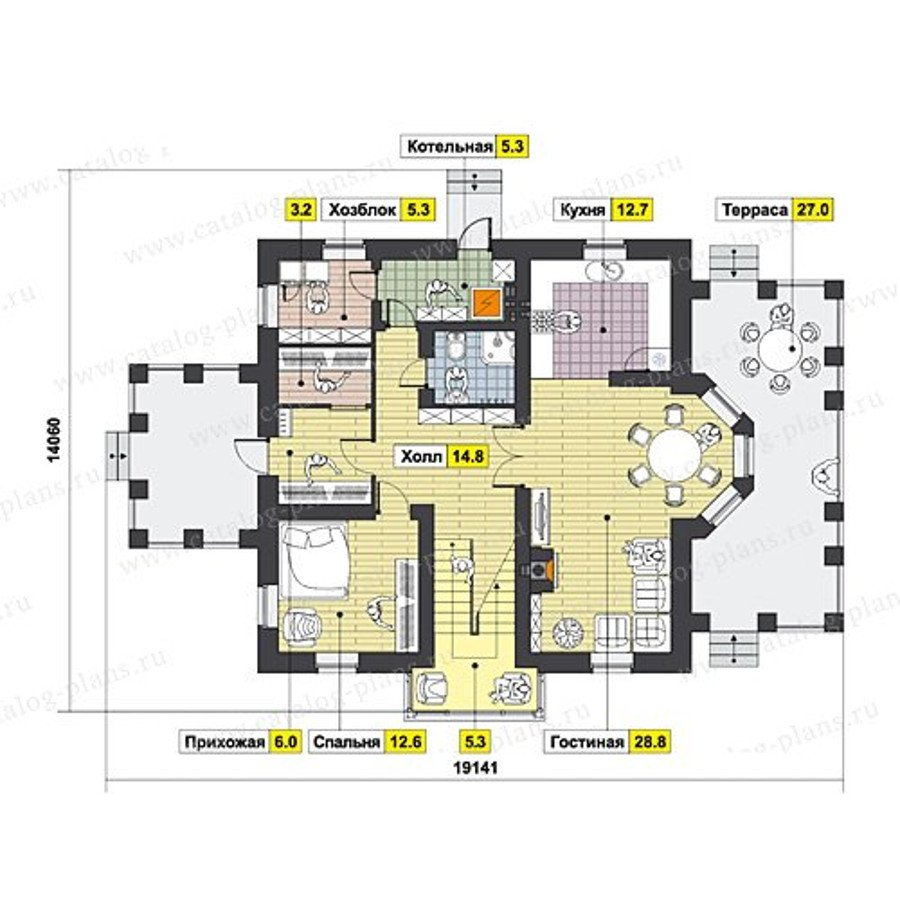 План 1-этажа проекта 47-48
