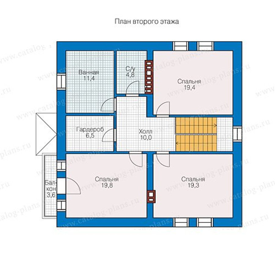 План 2-этажа проекта 40-07L