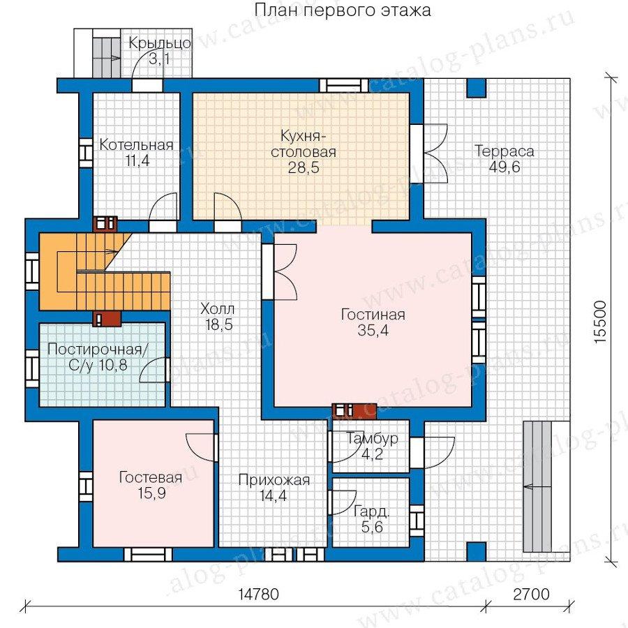 План 1-этажа проекта 40-09AG