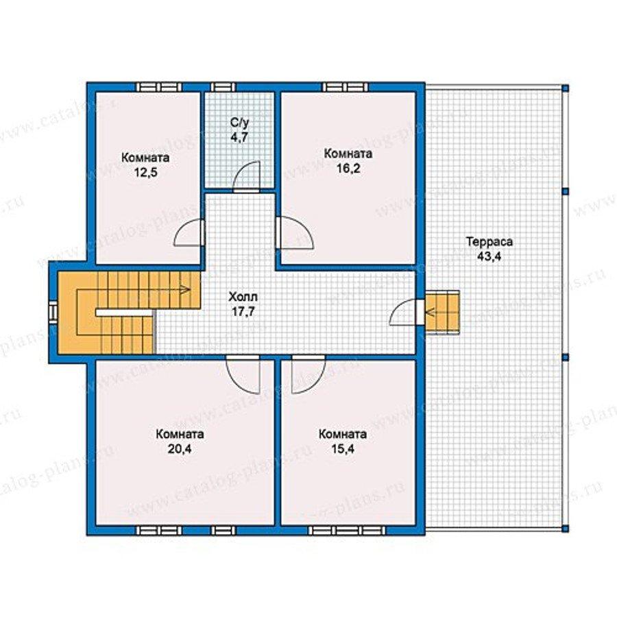 План 2-этажа проекта 13-11