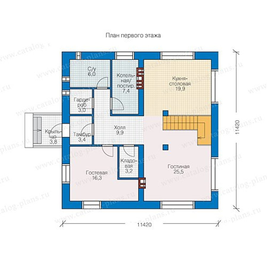 План 1-этажа проекта 40-07L