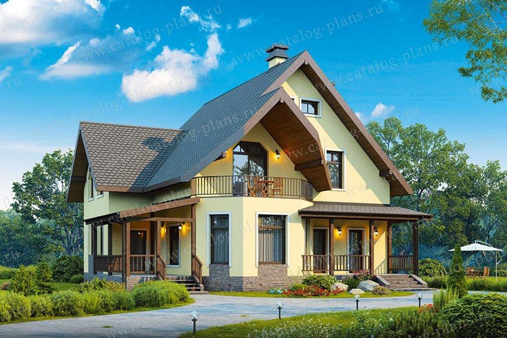 Проект жилой дом #40-05AG материал - газобетон, стиль немецкий