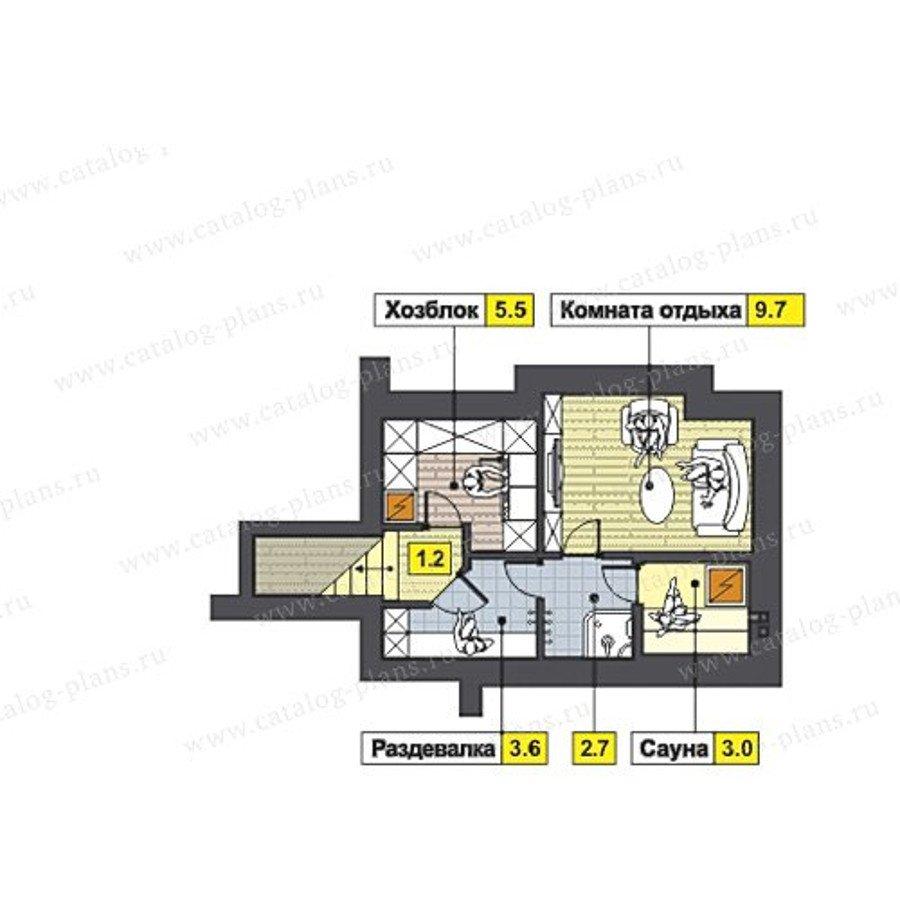 План 1-этажа проекта 47-50