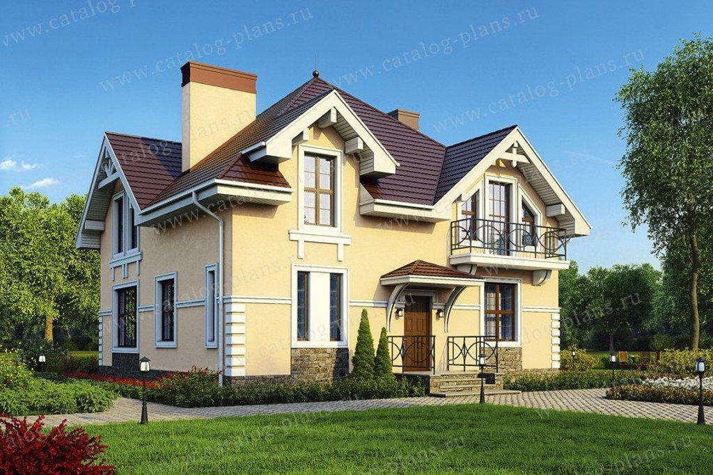 Проект жилой дом #40-07G материал - газобетон, стиль классический