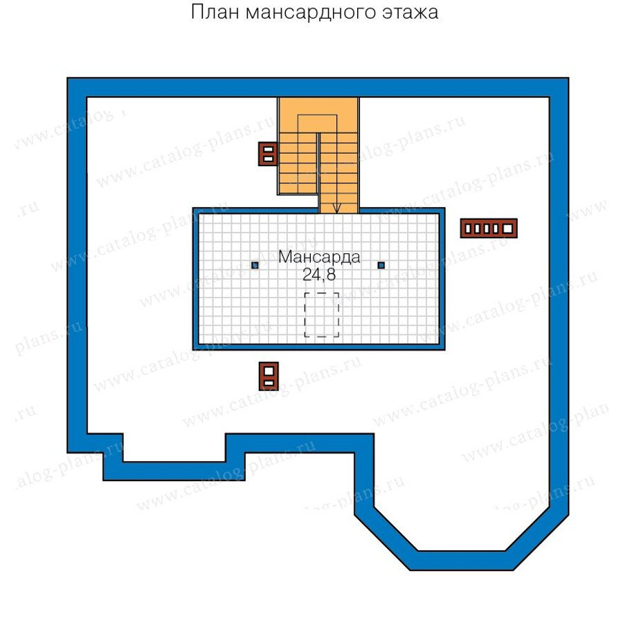 План 3-этажа проекта 40-11B