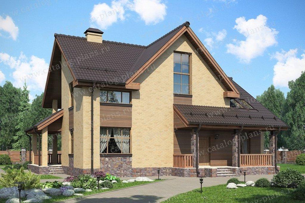 Проект жилой дом #47-46K материал - кирпич, стиль современный
