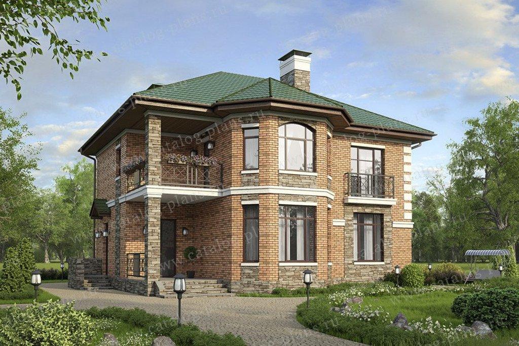 Проект жилой дом #57-27L материал - газобетон, стиль европейский